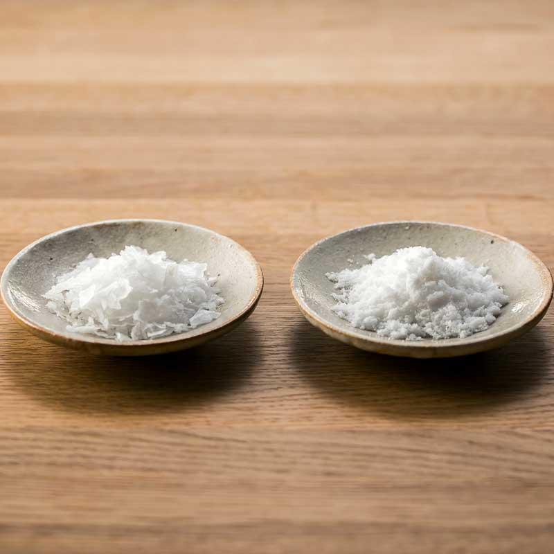 【産地直送/送料込】<塩竈の藻塩>藻塩と結晶 各2本セット