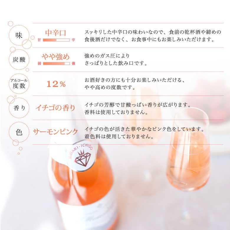 【産地直送/送料込】<GRA>スパークリングワイン ミガキイチゴ・ムスー