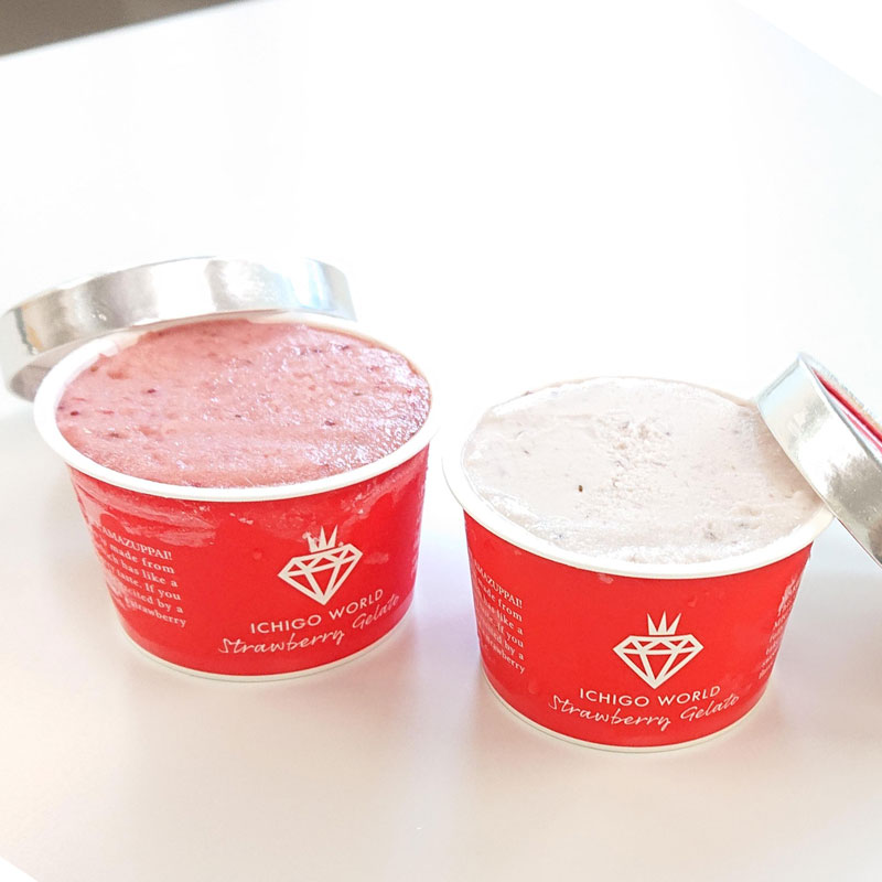 【産地直送/送料込】<GRA>[ミガキイチゴ]イチゴシャーベット&イチゴミルクジェラート 6個セット