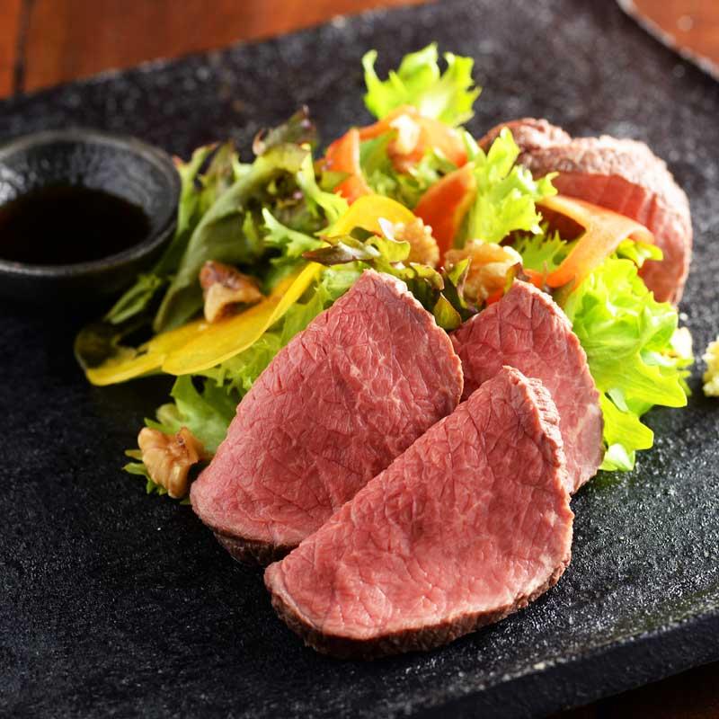 【産地直送/送料込】〈札幌バルナバフーズ〉北海道産 牛・塩 鉄板焼きローストビーフ