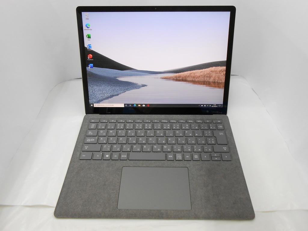 【中古】【MSOffice H&B付】 Microsoft Surface Laptop3/2019年モデル/Core i5 1035G7 1.2GHz/メモリ8GB/SSD128GB/13インチ/Windows10Home【3ヶ月保証】【足立店発送】