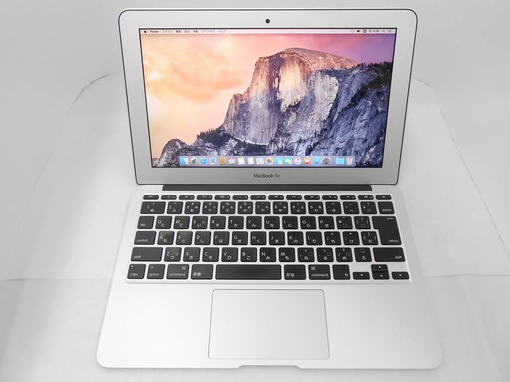 Aランク【中古】【WPSOffice付属】 Apple MacBookAir MJVP2J/A /Early2015/Corei5 1.6GHz/メモリ4GB/SSD128GB/11インチ/Mac OS Yosemite【3ヶ月保証】【足立店発送】