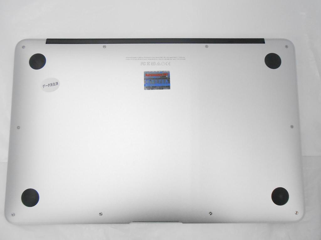 Bランク【中古】【WPSOffice付属】 Apple MacBookAir MJVP2J/A /Early2015/Corei5 1.6GHz/メモリ4GB/SSD128GB/11インチ/Mac OS Yosemite【3ヶ月保証】【足立店発送】