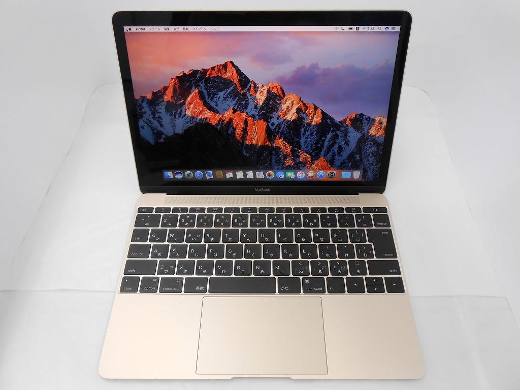 Bランク【中古】 Apple MacBook MJY32J/A/Early2015/Core m3 1.1GHz/メモリ8GB/SSD256GB/12インチ/Mac OS Sierra【3ヶ月保証】【足立店発送】