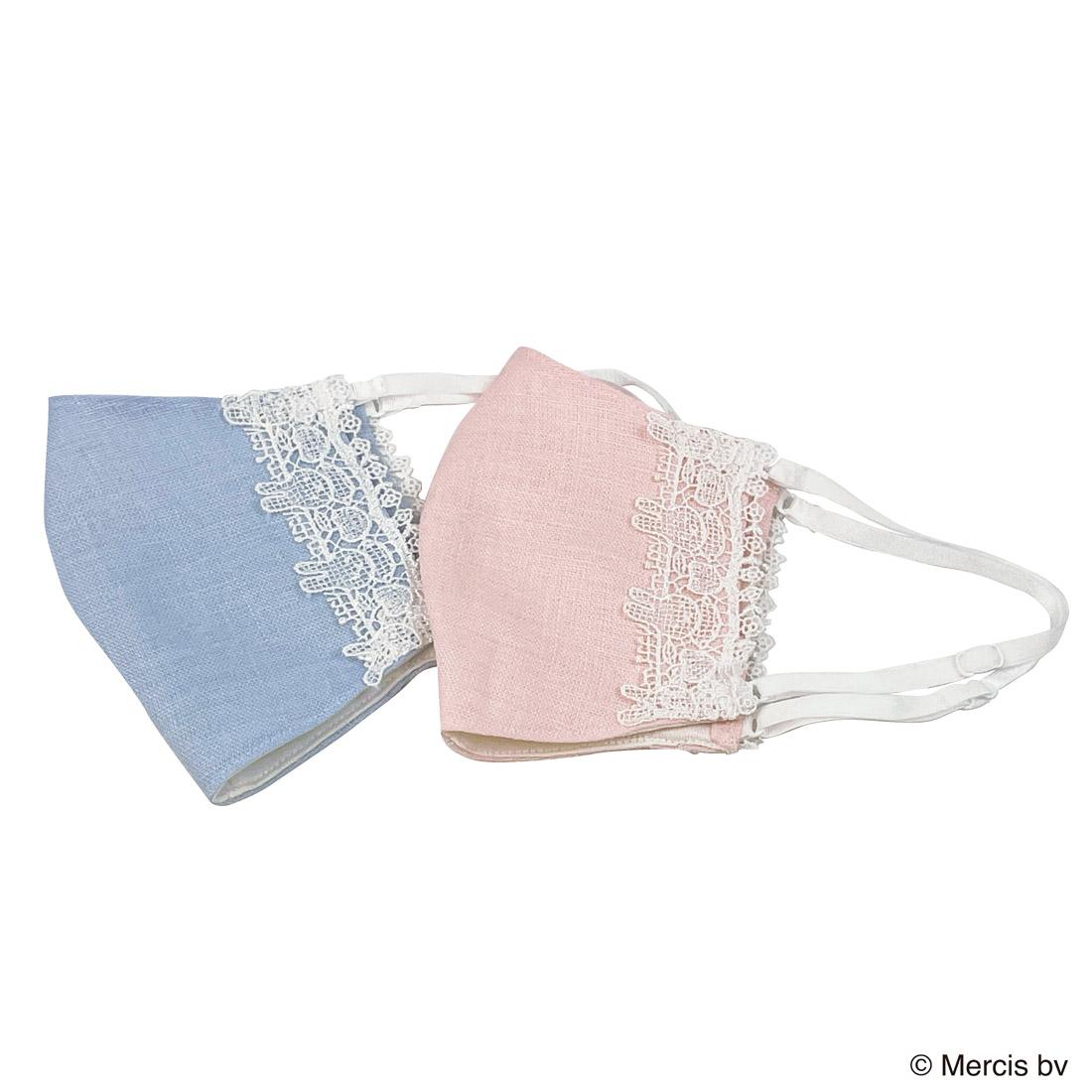 ミッフィー 近沢レース店マスク(ピンク・ブルー)