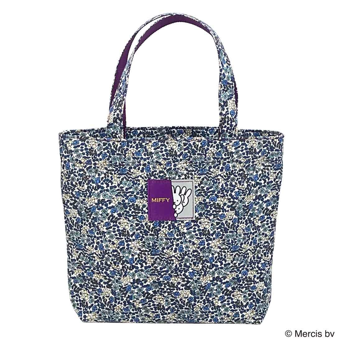 ミッフィーミニトート made with Liberty Fabrics ブルー