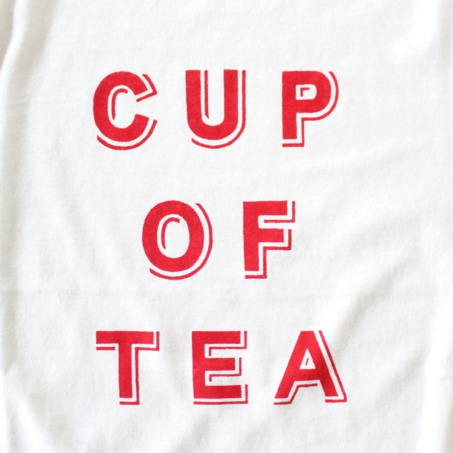 R&D.M.Co- オールドマンズテーラー  CUP OF TEA メンズ長袖Tシャツ(全2色)