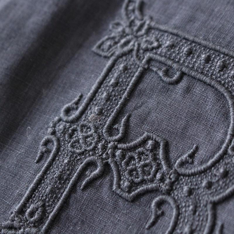 R&D.M.Co- オールドマンズテーラー 刺繍ドルマンスリーブシャツ