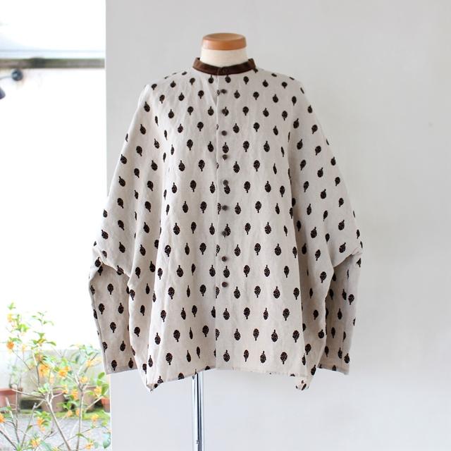 R&D.M.Co- オールドマンズテーラー アーティチョークバギーシャツ(ブルーグレー)