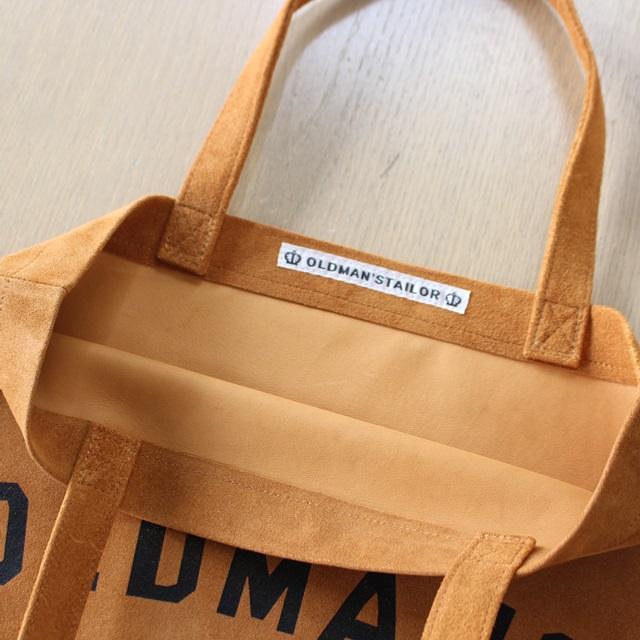 R&D.M.Co- オールドマンズテーラー OMTプリントスエードレザートートバッグ
