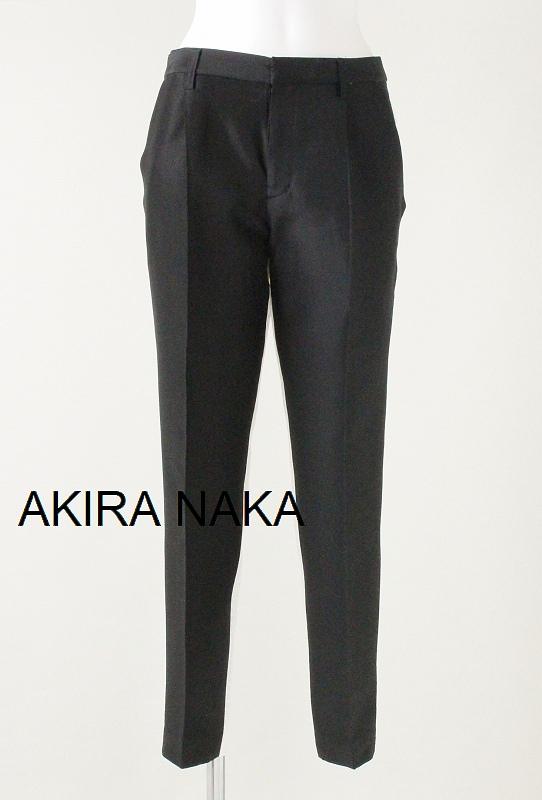 セール50%OFF AKIRA NAKA アキラナカ センタープレスパンツ(ブラックxホワイト)