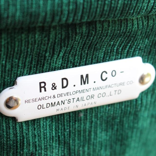 R&D.M.Co- オールドマンズテーラー  コーデュロイマルシェバッグ(TALL) (グリーン)