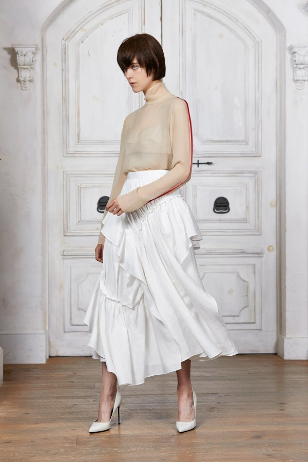 50%off SALE!セール AKIRA NAKA アキラナカ  AR1961WHBL Drawstring stripe skirt