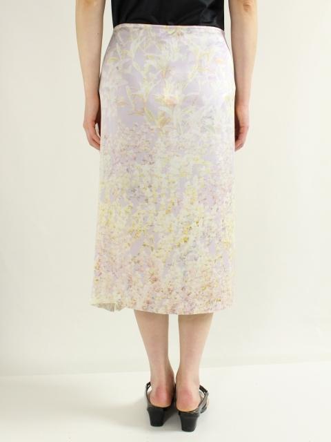 VAN HONGO ヴァンホンゴー:シルクボタニカルプリントスカート
