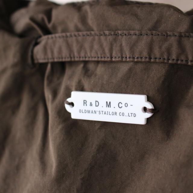 R&D.M.Co- オールドマンズテーラー ガーメントダイドローストリングバッグ(全5色)