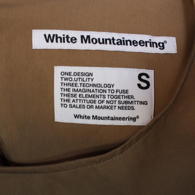 White Mountaineering ホワイトマウンテニアリング  LAYERD NO SLEEVE TOP ホワイト WL2071101