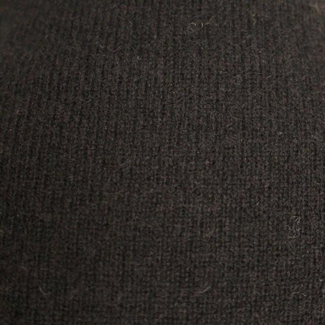 R&D.M.Co- オールドマンズテーラー : ウールカシミアボトルネックカーディガン(ブラック)