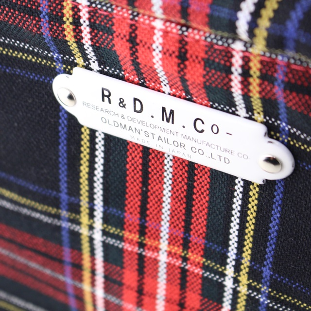 R&D.M.Co- オールドマンズテーラー 再入荷タータンチェックマルシェバッグ(SMALL)