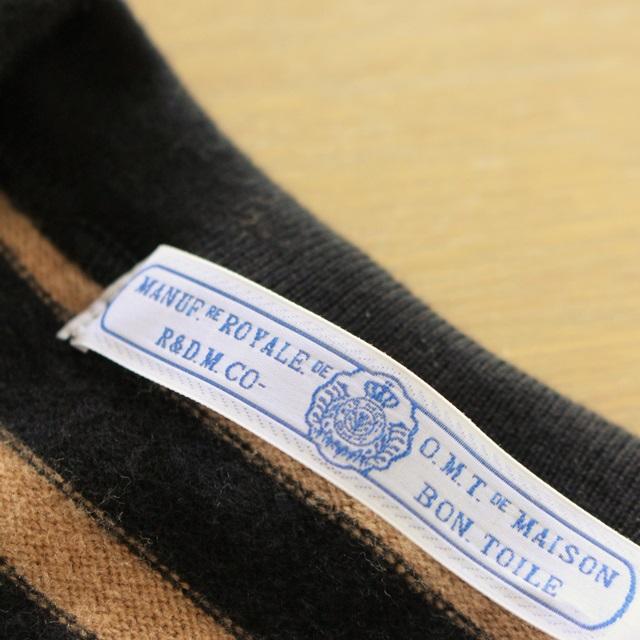 R&D.M.Co- オールドマンズテーラー 裏起毛ボーダークルーネックシャツ(全3色)