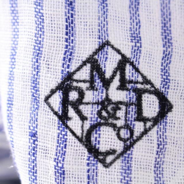 R&D.M.Co- オールドマンズテーラー  リネンストール (太ストライプ)