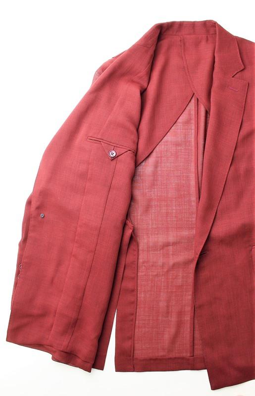 50%OFF SALE! セール beautiful people ビューティフルピープル シアーウールライトジャケット 1845101001(バーガンディー)