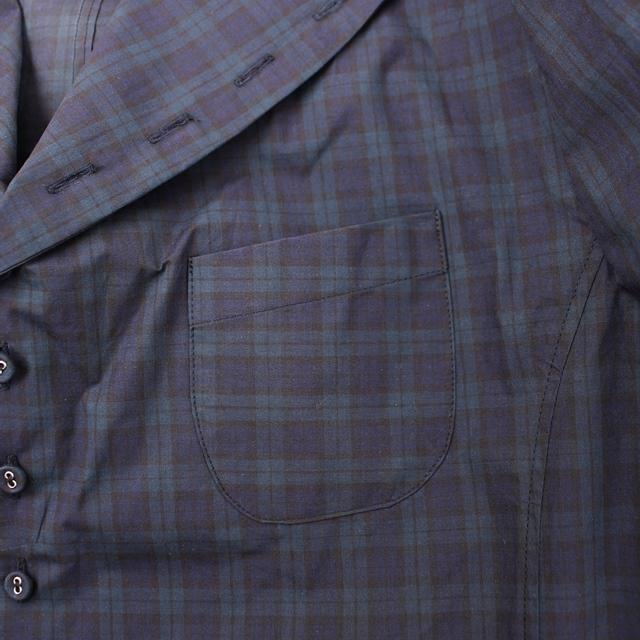 R&D.M.Co- オールドマンズテーラー 先染めチェックシャツジャケット