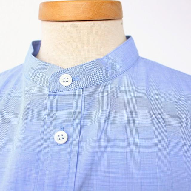 R&D.M.Co- オールドマンズテーラー 先染めチェックバンドカラーシャツ(全2色)