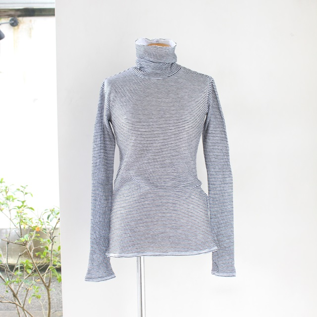 R&D.M.Co- オールドマンズテーラー シングルガーゼハイネックシャツ(ブラック)