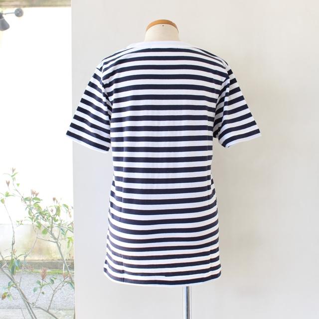 R&D.M.Co- オールドマンズテーラー メンズガーゼボーダー Tシャツ