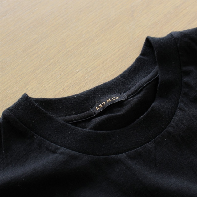 R&D.M.Co- オールドマンズテーラー ss ハイ ガーゼフレンチスリーブTシャツ