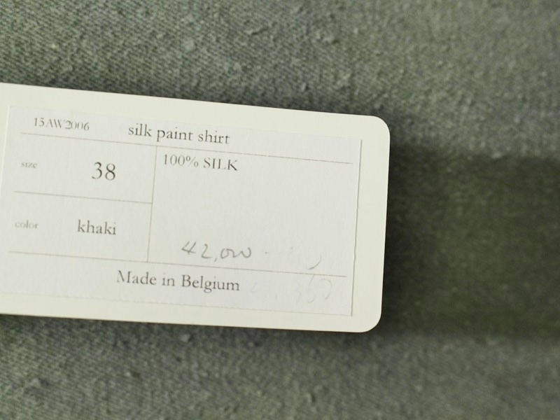 VAN HONGO ヴァンホンゴー:シルクペイントシャツ