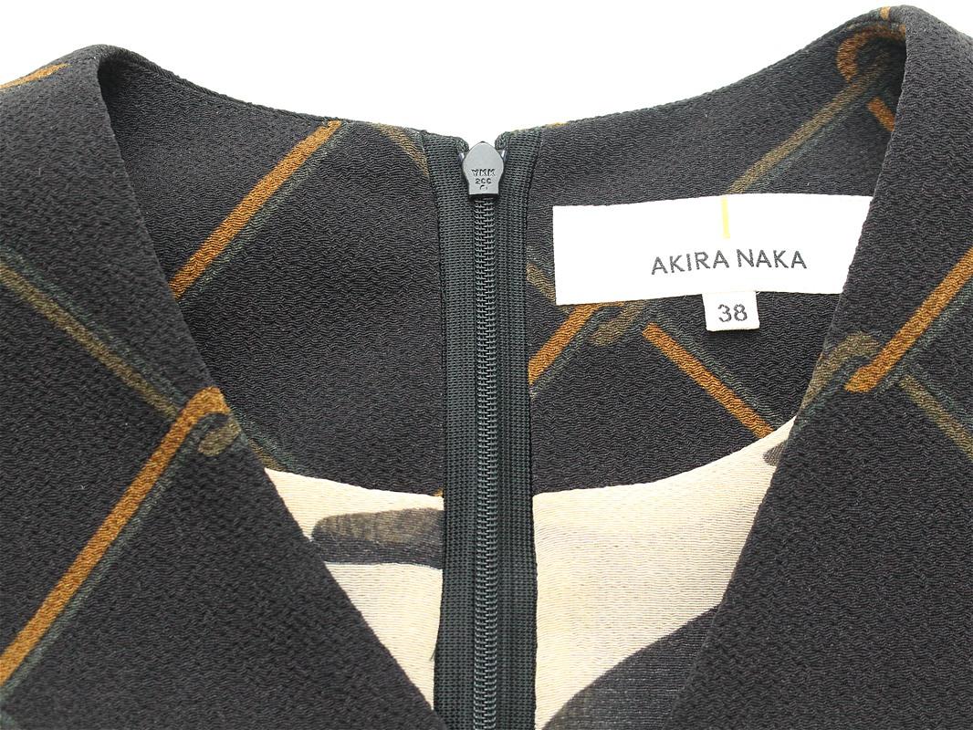 50%off SALE! セール AKIRA NAKA アキラナカ シフォンレイヤードワンピース (花柄)ブラック(AR1720BK)