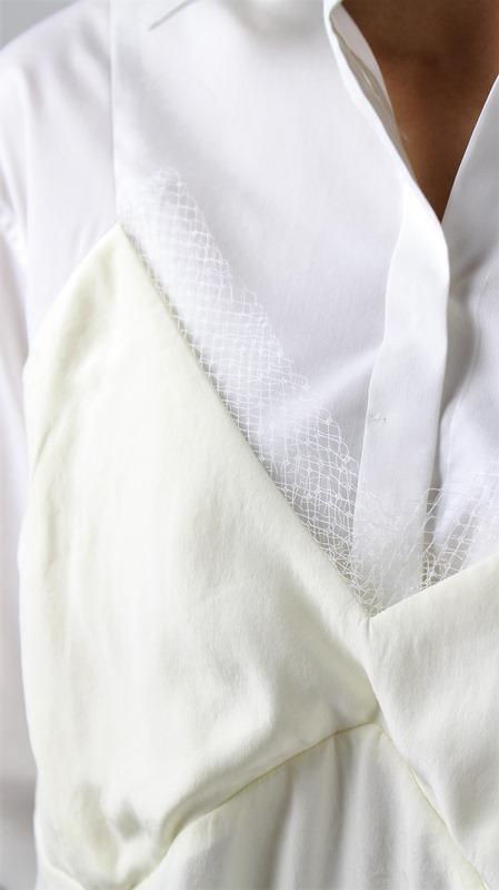 50%OFF SALE! セール PONTI ポンティ コットンレイヤードシャツ PO2D011