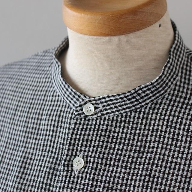 R&D.M.Co- オールドマンズテーラー DENSELYリネンバギーシャツ(ギンガム)