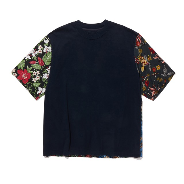 White Mountaineering ホワイトマウンテニアリング  FLOWER PRINTED PATCHWORK T-SHIRTS WM2071525