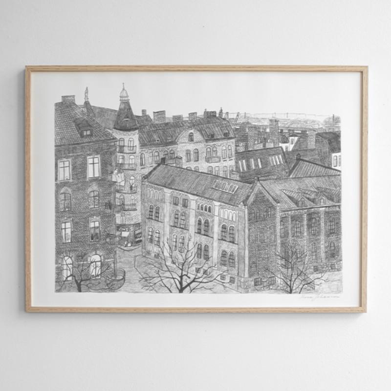 Fine Little Day HAGABION ポスター 70x50cm ファインリトルデイ 北欧 スウェーデン