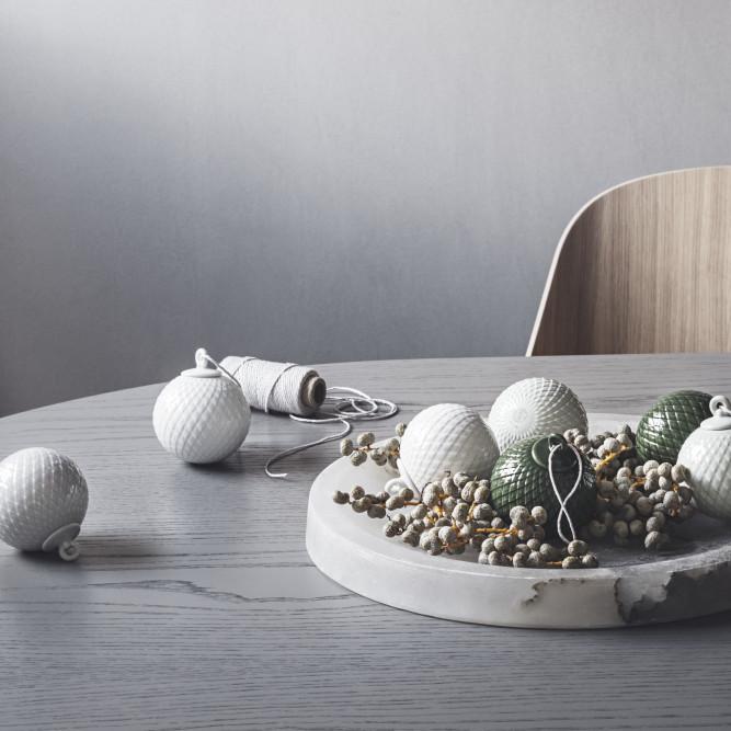 Lyngby Porcelain オーナメント ホワイト Rhombe Bauble リュンビューポーセリン 北欧 デンマーク