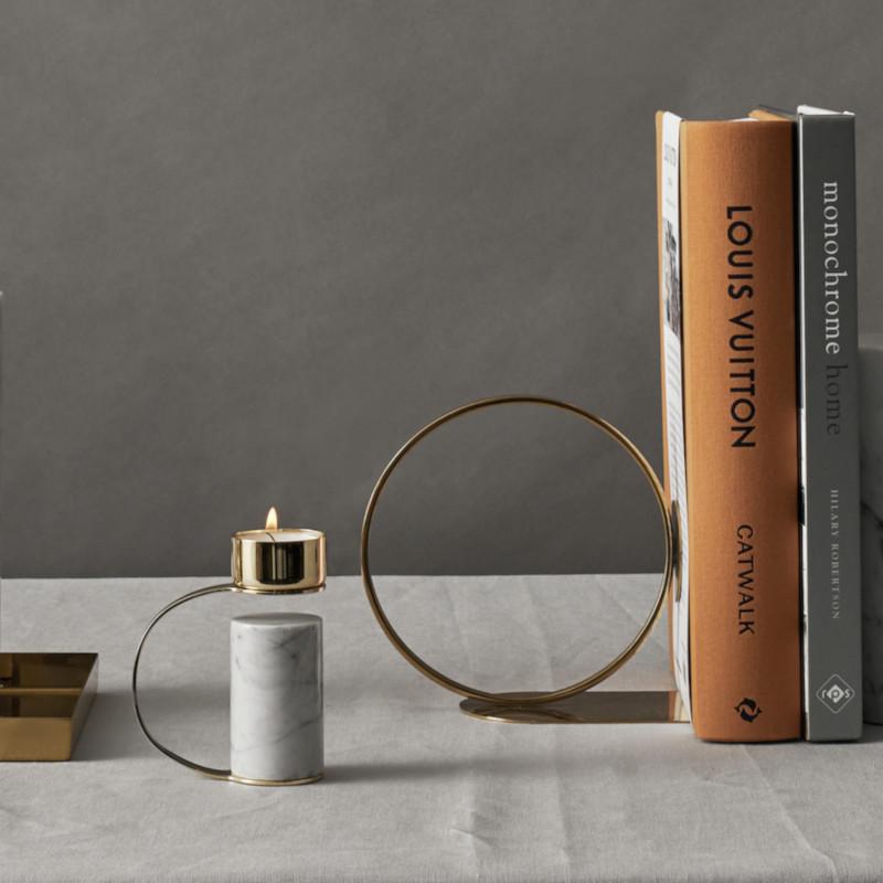 Cooee Design ティーライト キャンドルホルダー Heavy Tealight Carrara 大理石 ホワイト ビアンコカラーラ 北欧 スウェーデン