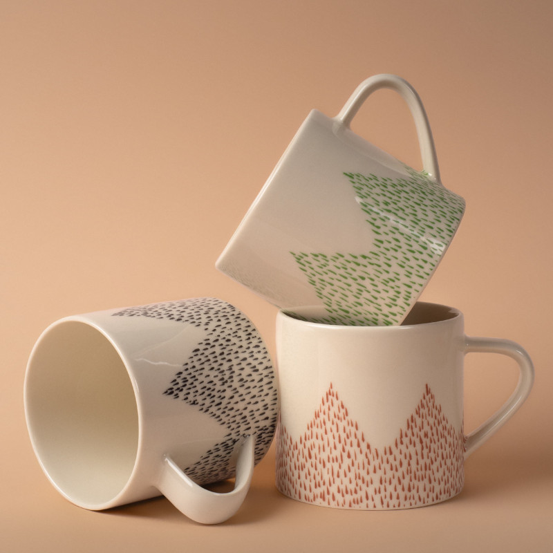 Studio Oyama コーヒーカップ Barrskog 針葉樹 ブラウン 赤茶  北欧 スウェーデン