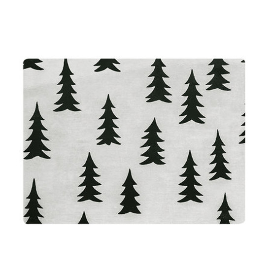 Fine Little Day モミの木柄 テーブルマット ホワイト×ブラック ファインリトルデイ 北欧 スウェーデン