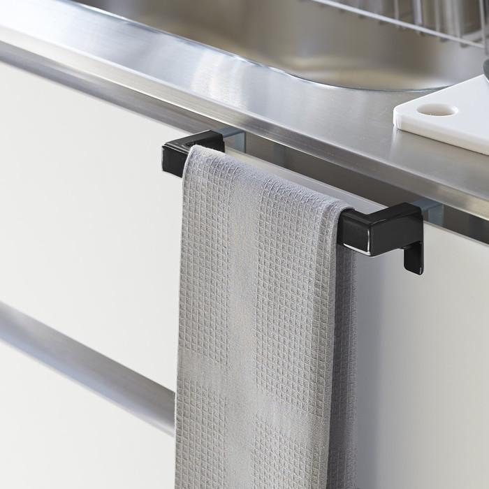 モノトーン キッチンタオルバー がっちり固定!ブラック スチール YAMAZAKI 日本