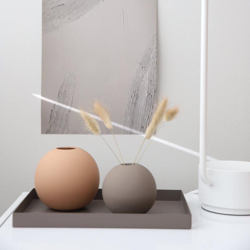 Cooee Design ボールフラワーベース 8cm マッドブラウン 花びん 北欧 スウェーデン