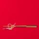 水引デザイナー長浦ちえさんの 水引お箸置き「鶴プラチナ」 TIER・タイヤー 日本【ネコポスOK】