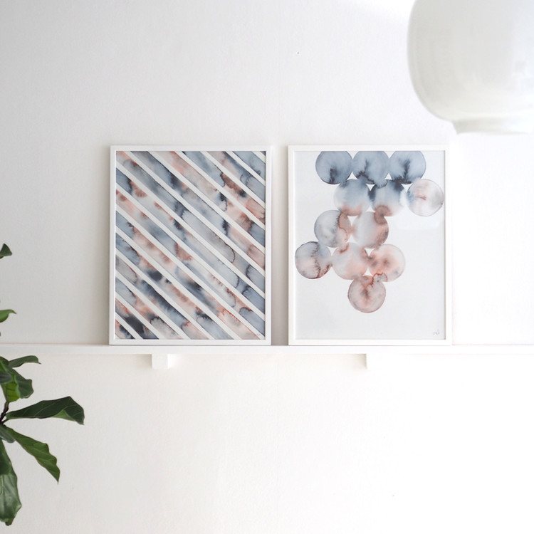 Silke Bonde 「Melt/メルト」 40x50 アートポスター 北欧 デンマーク