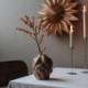 Cooee Design ドリフト フラワーベース 17cm ウォールナット 花瓶 北欧 スウェーデン