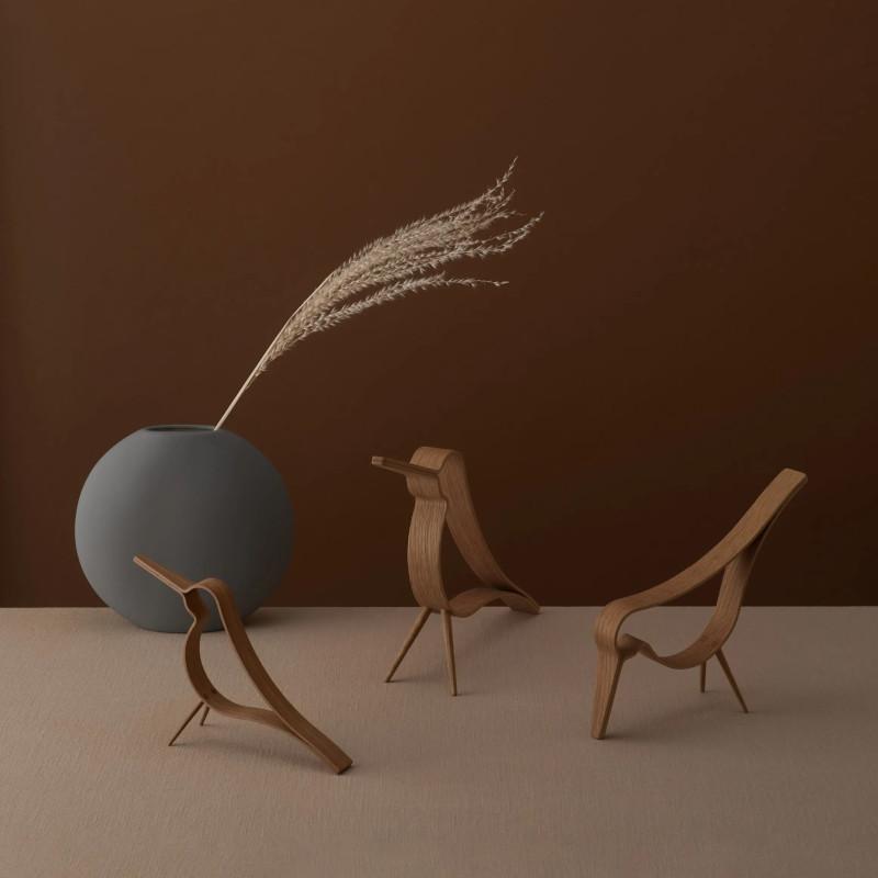 Cooee Design ウッディバード オーク S 14cm 鳥 木製 オブジェ Woody Bird 北欧 スウェーデン