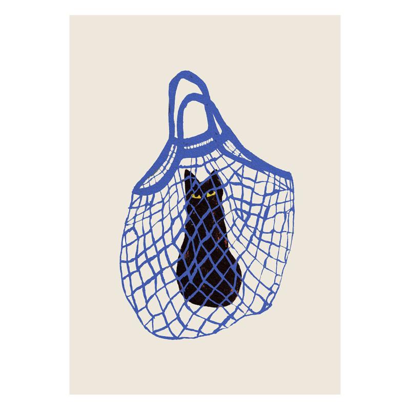 THE POSTER CLUB バッグに入った猫 50x70cm アートポスター 北欧 デンマーク