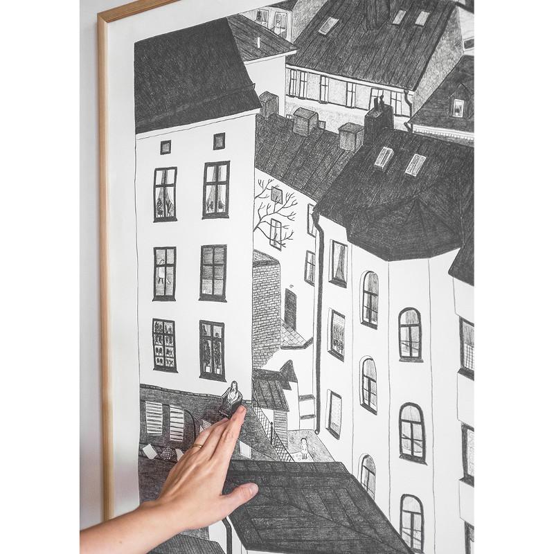 Fine Little Day GARDSUTSIKTEN ポスター 70x100cm ファインリトルデイ 北欧 スウェーデン