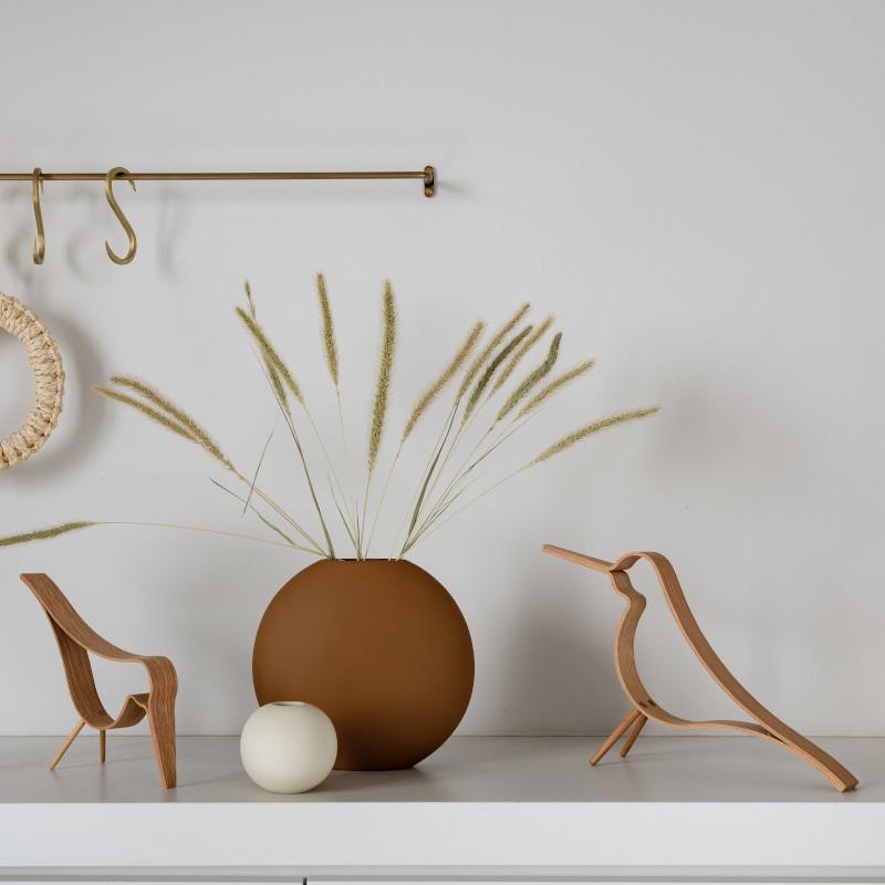 Cooee Design ウッディバード オーク L 20cm 鳥 木製 オブジェ Woody Bird 北欧 スウェーデン