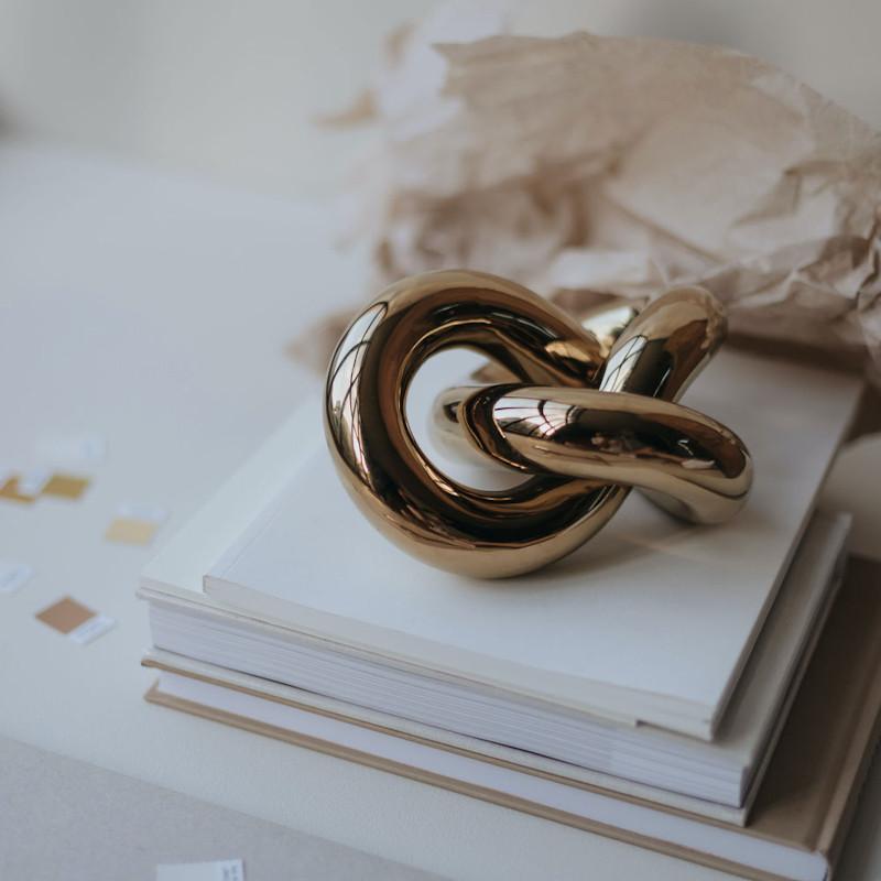 Cooee Design オブジェ Knot ゴールド S 11.5cm 北欧 スウェーデン